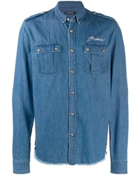 Balmain Logo Denim Shirt