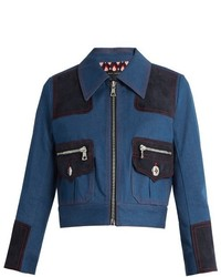 Marc Jacobs Zip Front Cropped Denim Jacket