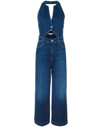 Stella McCartney Cut Out Denim Jumpsuit