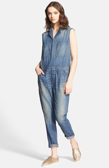 6397 Sleeveless Denim Jumpsuit Where To Buy How To Wear