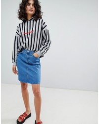 Uncivilised Denim Mini Skirt