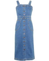 Blue Denim Overall Dress