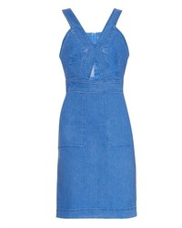 Stella McCartney Cut Out Stretch Denim Dress