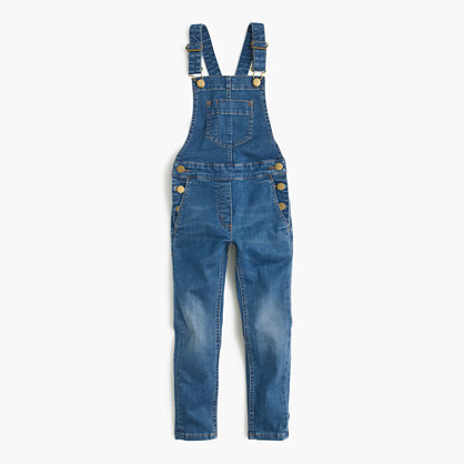 J.Crew Girls Stretch Denim Overalls