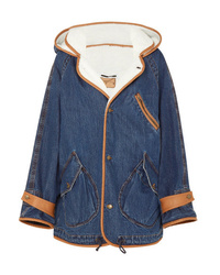 McQ Alexander McQueen Denim And Faux Shearling Jacket