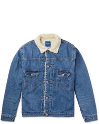 Beams Japan Faux Shearling Lined Denim Jacket