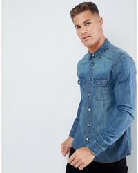 Burton Menswear Denim Shirt In Blue