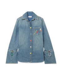 Mira Mikati Embroidered Denim Shirt
