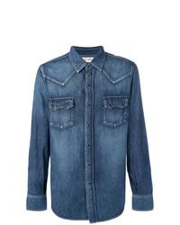 Saint Laurent Faded Denim Shirt