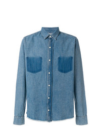 RtA Frayed Hem Denim Shirt