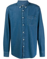 Deperlu Long Sleeve Denim Shirt