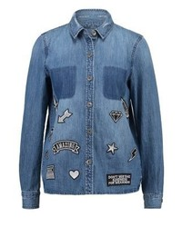 Only Onlbech Shirt Medium Blue Denim