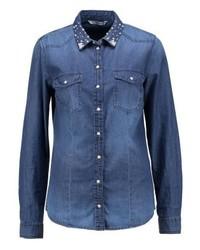 Only Onlkira Shirt Medium Blue Denim