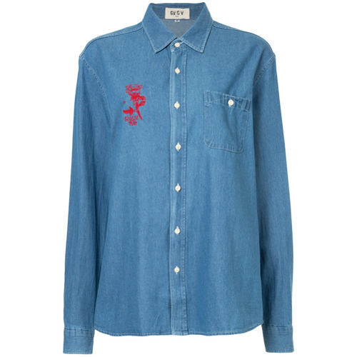 G.V.G.V.Flat Printed Denim Shirt