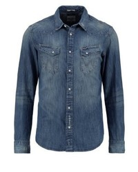 Wrangler Slim Fit Shirt Light Indigo