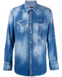 DSQUARED2 Stonewash Denim Shirt