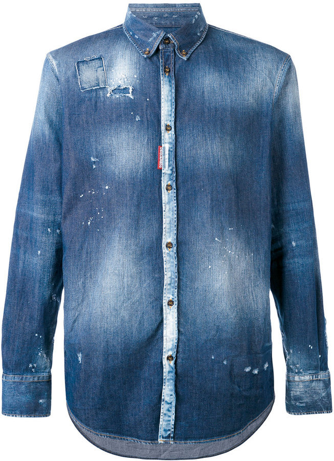 DSQUARED2 Tie Dye Denim Shirt
