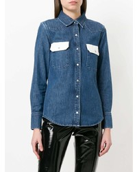 Calvin Klein Jeans Western Lean Contrast Denim Shirt