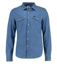 Lee Western Slim Fit Shirt Blue Ice