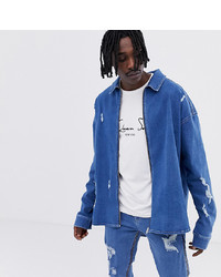ASOS DESIGN X Laquan Smith Oversized Denim Shirt With Back Logo