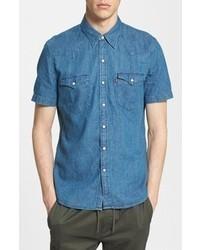 Levi's Crinkled Denim Western Shirt