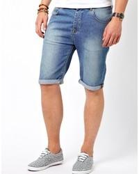 Asos Brand Denim Shorts In Longer Length