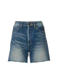 Saint Laurent Cut Off Denim Shorts