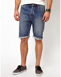 Asos Denim Shorts In Longer Length