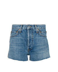 RE/DONE High Waisted Denim Shorts