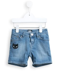Karl Lagerfeld Kids Kuracao Denim Shorts