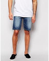 Bellfield Mid Wash Denim Shorts