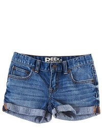 Peek Griffin Cuff Denim Shorts