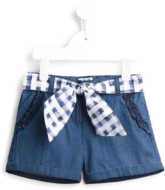 Armani Junior Tie Fastening Denim Shorts