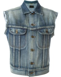 Saint Laurent Sleeveless Denim Jacket