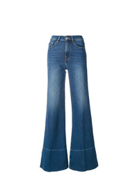 Frame Denim Mid Rise Flared Jeans
