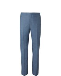 Richard James Blue Slim Fit Wool Suit Trousers