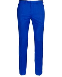 Topman Blue Ultra Skinny Fit Suit Trousers