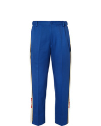 Gucci Poplin Trimmed Cotton Twill Suit Trousers