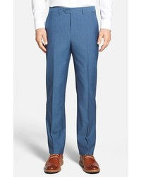 Santorelli Romeo Flat Front Wool Trousers