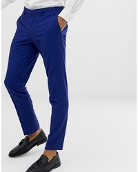 Burton Menswear Skinny Fit Suit Trousers In Blue
