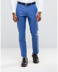 Asos Slim Suit Pants In Blue