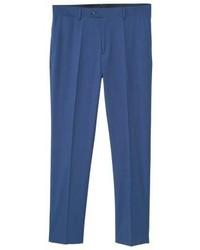 Mango Suit Trousers Blue