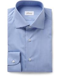 Brioni Blue Cotton Shirt