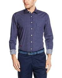 Hemd 50469 13827 Business Shirt Blue Blau L