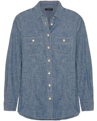 J.Crew Selvedge Cotton Chambray Shirt Blue
