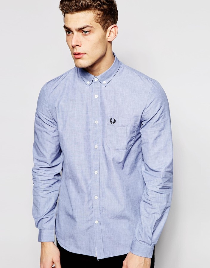 9deca4cd8 ... Fred Perry Shirt With Pocket ...