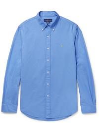 Slim fit button down collar cotton oxford shirt medium 1148987