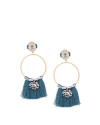 Rada' Rad Fringe Hoop Earrings