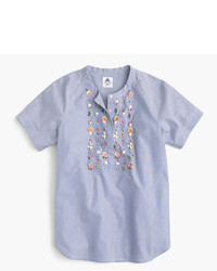 J.Crew Collection Thomas Mason For Embellished Top