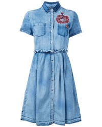 Diesel Embroidered Flower Denim Dress